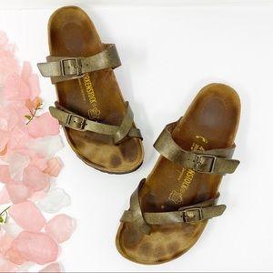 Birkenstock Mayari Metallic Toe Loop Sandals 41